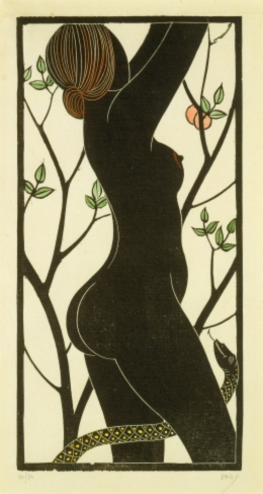 Eve, by Eric Gill; Wood Engraving on Paper. Edition Size - 480; Cleverdon Edition, 1929
