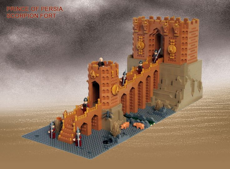 LEGO Prince of Persia MOC Scorpion Fort - Alternative overview | Flickr - Photo Sharing!
