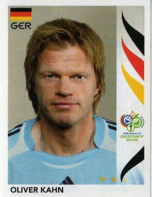 Oliver Khan of Germany. 2006 World Cup Finals card.
