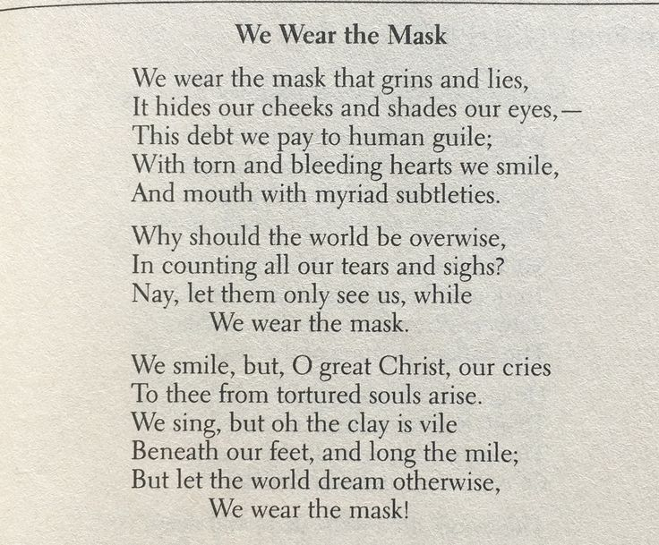 "we wear the mask explication essay The mask we wear: an analysis of sonnet 138 essay  analysis of a poem ""we  wear the mask"" essay  explication of we wear our mask essay example."