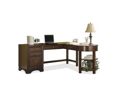 Bella Vista Desk U0026 Return With File Drawer By Riverside Furniture    Hudsonu0027s Furniture   L Shape Desk