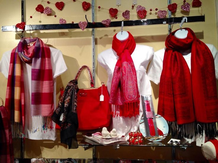Gorgeous Red scarves - perfect gift for Valentine's Day!