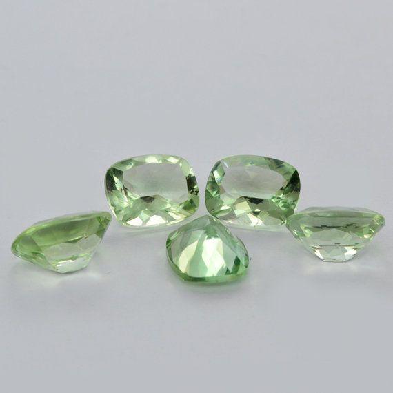 Natural Green Amethyst Gemstone 1114 mm by DevmuktiJewels on Etsy