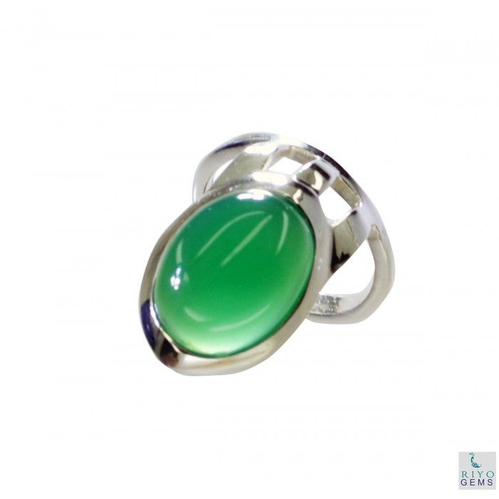 Riyo Crowded Green Onyx 925 Solid Sterling Silver Green Ring Srgon8-30005