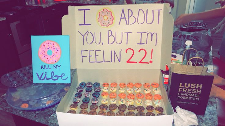 Best friend 22nd birthday gifts! Taylor Swift and donut themed