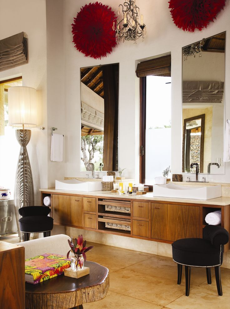 Everything you need and more in the  Metsi presidential suite bathroom, Molori Safari Lodge.