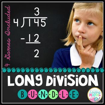 Practice long division with your students with these 4 different games. Savings of over 20%.The four games included are listed in my store separately.Game # 1: Long Division -Interpreting Remainders Connect Four Game: Practice long division and particularly interpreting the meaning of the quotient and the remainder with this fun Connect Four game.