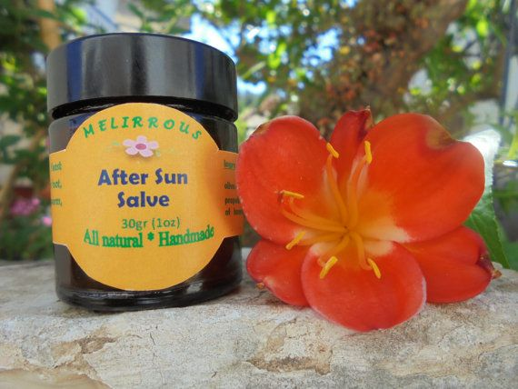 After Sun Salve Sunburn Relief All Natural by MelirrousBees