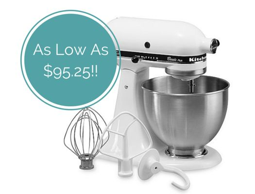 One of the most popular deals of the season is back again!! Grab a KitchenAid Stand Mixer for as little as $114.99 (after rebate and Kohl's cash)!!!