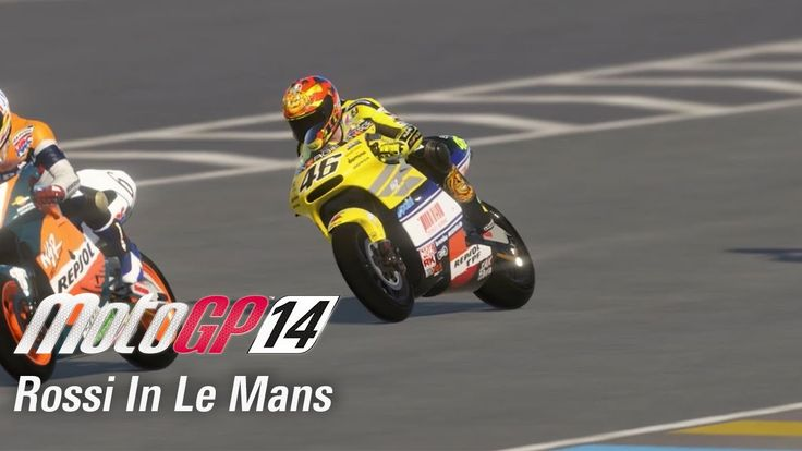 MotoGP 14 features rider champions from the past to the present! In this video we check out Valentino Rossi in Le Mans!