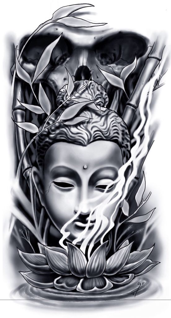 prxima tatuagem mais tattoo buddha skull design mehr - Tattoo Design Ideas
