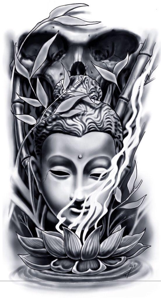 prxima tatuagem mais tattoo buddha skull design mehr - Tattoo Design Ideas