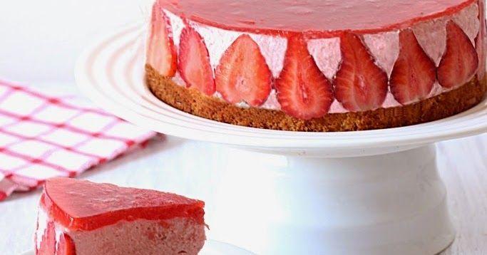 Strawberry mousse cake recipe, Eggless strawberry mousse cake recipe, mousse cake using strawberries, Easy cake recipes, Mousse cake recipes, Strawberry recipes, Cake recipes, Dessert recipes