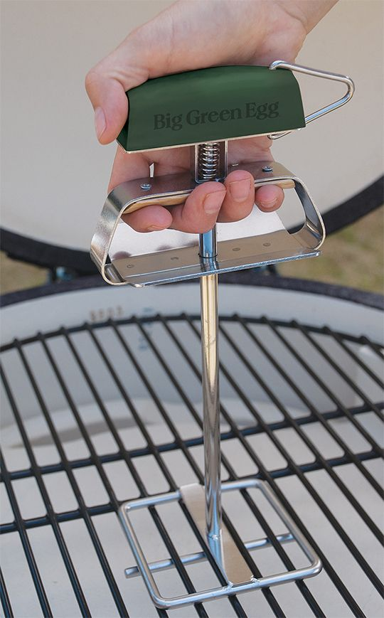 Big Green Egg Grid Lifter-the best way to lift your grid comes with a comfy handle too!