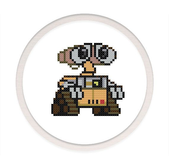 Wall-E cross stitch