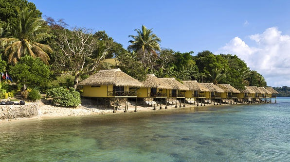 REPUBLIC OF VANUATU  A short ferry ride from the capital of Port Vila is the picturesque private-island resort of Iririki.