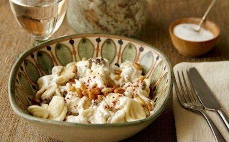 Γευστικό και ελαφρύ πιάτο: Τορτελίνια με σως γιαουρτιού