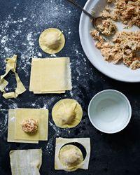Crab Ravioli with Shallot Cream Recipe