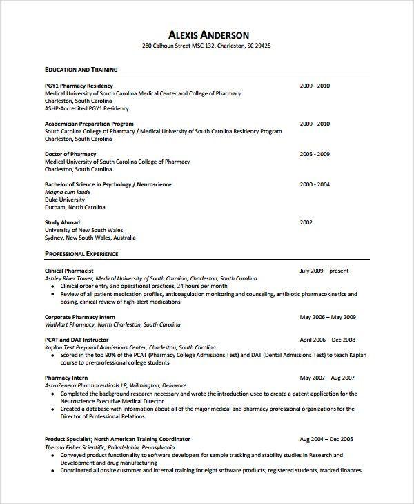 D Pharmacy Resume Format Sample Resume Resume Format Resume