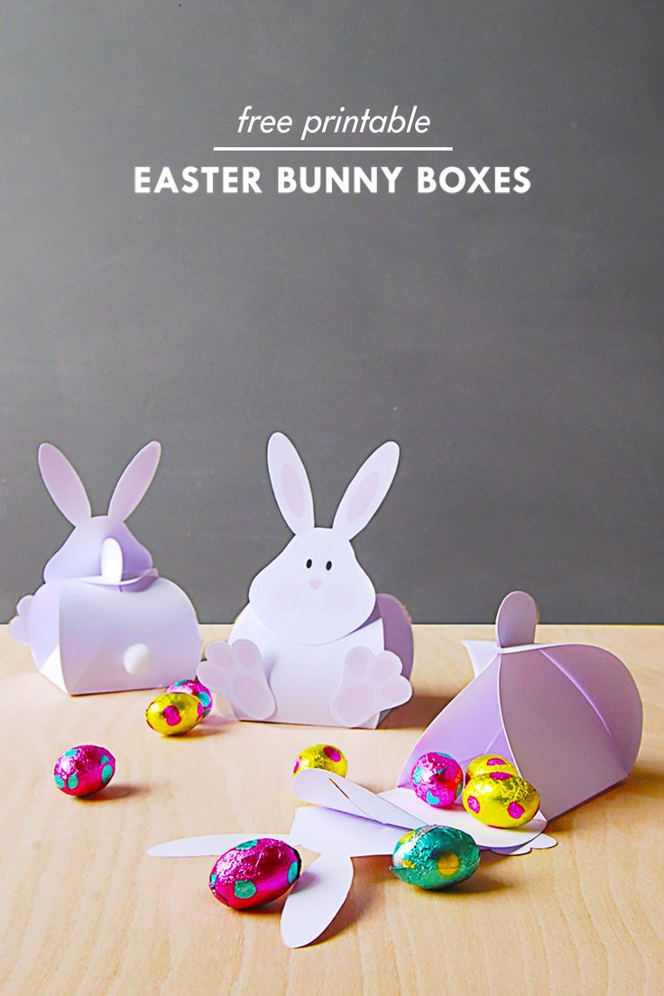 DIY Easter Bunny Boxes   Free Printable   Little House On The Corner   – Easter crafts
