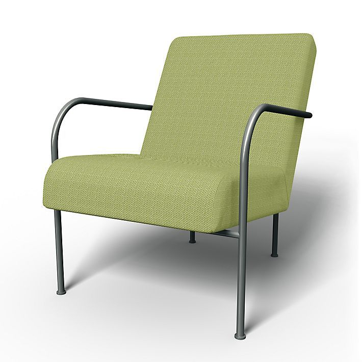 Ikea PS , Armchair Covers, Armchair, Regular Fit using the fabric Lunda Melange Daiquiri Green