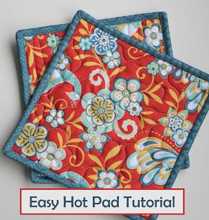 Tutorial for an easy hot pad, or could make larger and use as a mug rug or topper