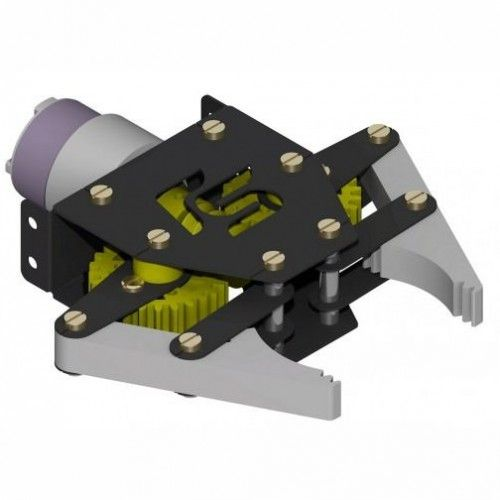 The Gripper module (RM0525) is state of robotic arm which can be used in various 'pick and place' kind of robots. It works on DC Motor (9 to 12V DC). Change in rotation direction of the DC Motor, generates Jaw Open & Close Action. The DC motor can be easily be controlled with the help of DPDT Switch (manual mode) or with the help of any microcontroller along with L293D Motor Driver module.