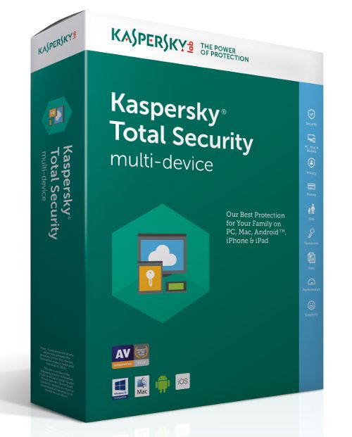 Kaspersky Total Security Multi DeviceKaspersky Total Security Multi Device ofera toate instrumentele necesare pentru   a-ti proteja PC-ul - inclusiv identitatea digitala, documentele,   fotografiile, muzic...
