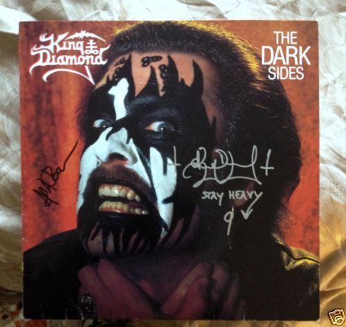 "King Diamond ‎– ""The Dark Sides"" AUTOGRAPHED BY KING DIAMOND AND ANDY LAROCQUE ! $142.50"