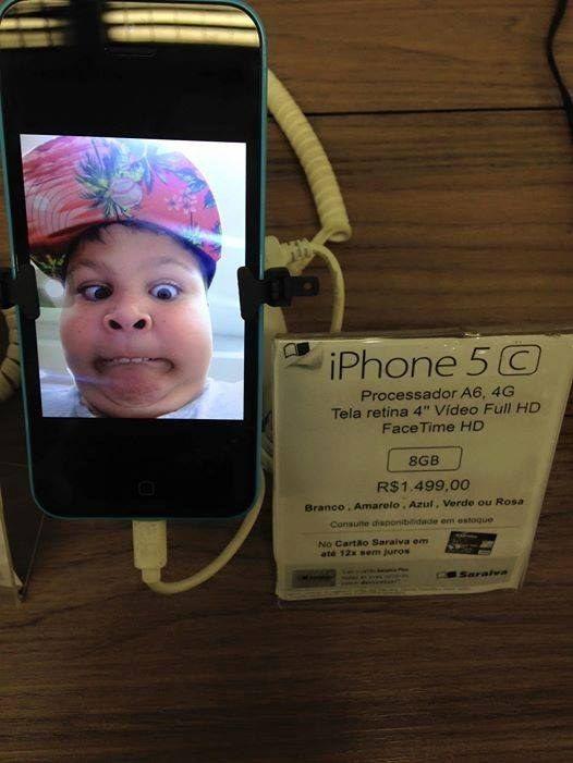 Este teste de câmera do iPhone.