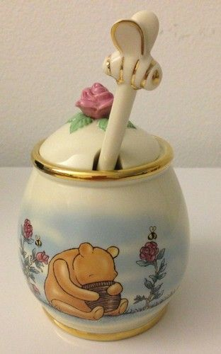 Classic Pooh Honey Pot Lenox Fine Ivory China Disney Winnie The Pooh Collectible   eBay