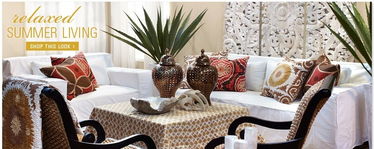 We like white or light furniture with colorful pillows and accents.