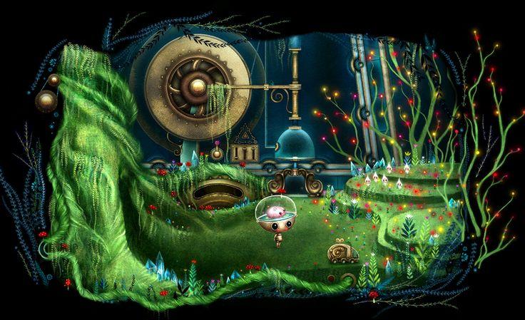 Growbot - Upcoming indie game looks fantastic. Looks familiar to machinarium & amanita games