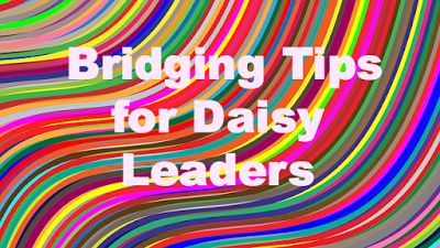 Useful bridging ceremony tips for Daisy leaders to help them plan their troop's ceremony.