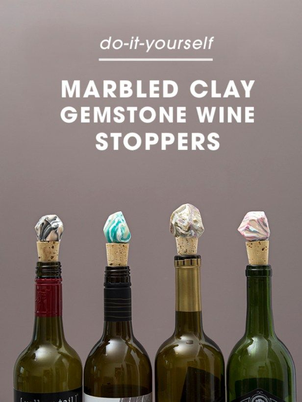 learn how to make these awesome marbled gemstone wine stoppers