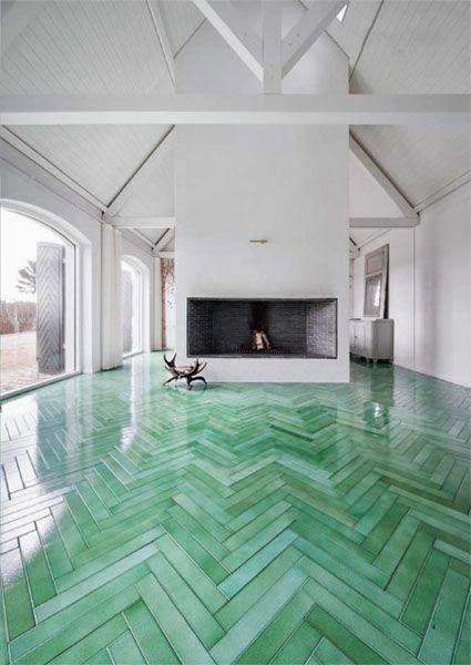 OMG those floors.  I am so in love.