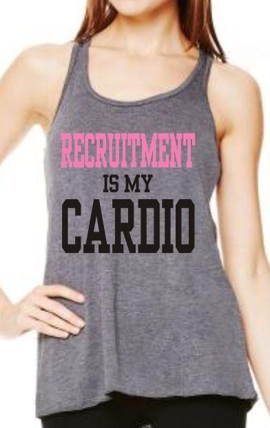 Kiss My Southern Sass - Recruitment Is My Cardio Razorback Workout Tank, $25.00