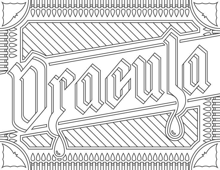 Coloriage inspiré du film 'Dracula', pour le site Readers.com.A partir de la galerie : Affiches De FilmsSource :  readers