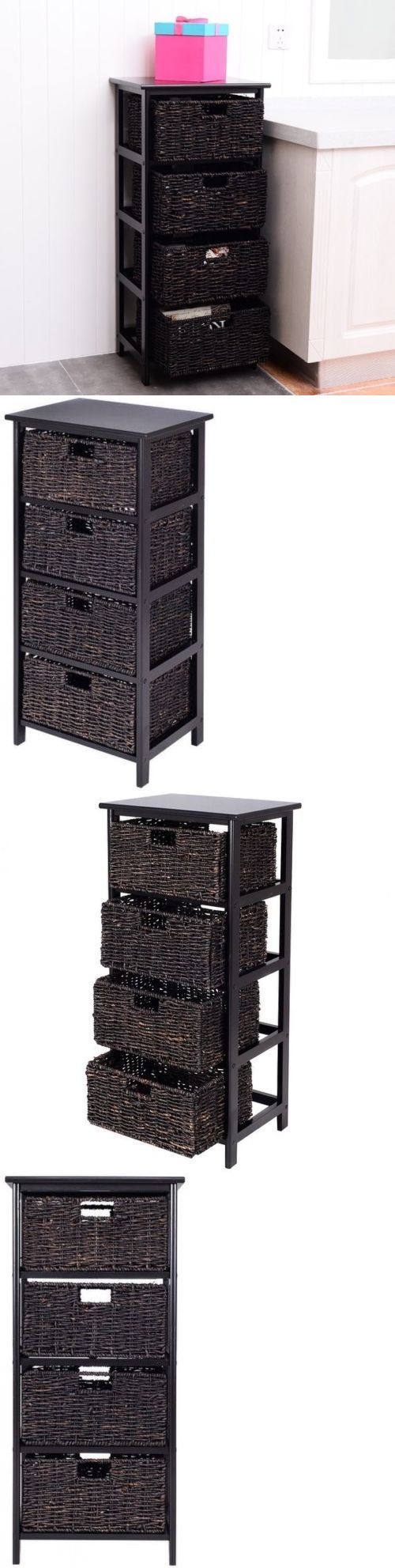 White tilt out clothes storage basket bin bathroom drawer ebay - Storage Bins And Baskets 159898 Office Storage Furniture Wooden End Accent Table Chest Of Drawers