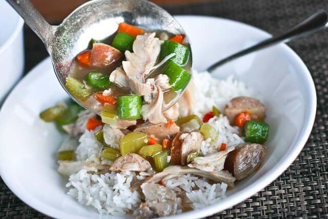 Leftover Turkey Recipe: Turkey Gumbo ~ http://steamykitchen.com