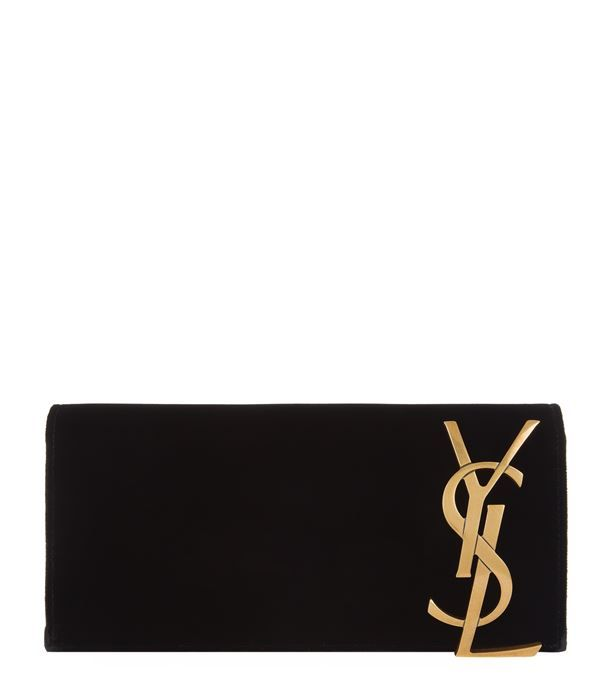 Saint Laurent Smoking Velvet Monogram Clutch available to buy at Harrods.Shop for her online and earn Rewards points.