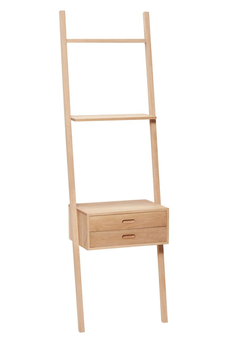 Oak display ladder with drawers. The leaning function creates a lightness to the furniture design. Item number: 880413 - Designed by Hübsch