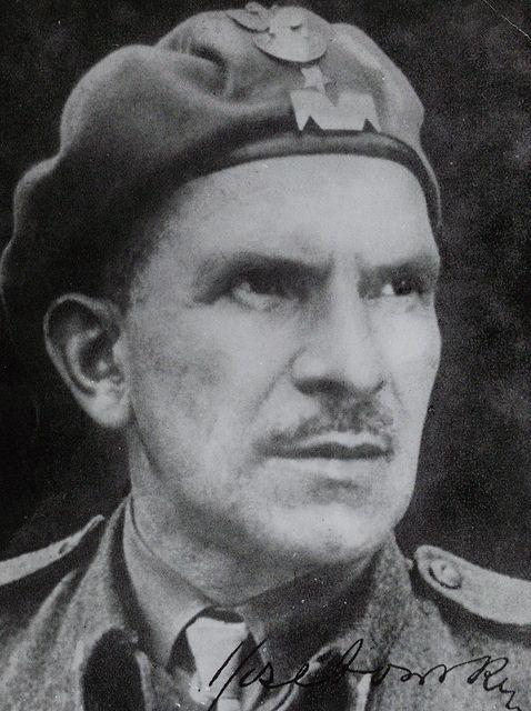 Major General Stanisław Sosabowski, Commander, 1st Independent Polish Parachute Brigade (1. Samodzielna Brygada Spadochronowa). 1940s.