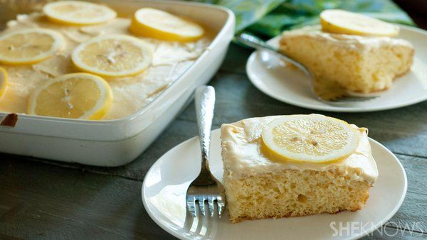This cake will transport you to the lemonade stand days of childhood