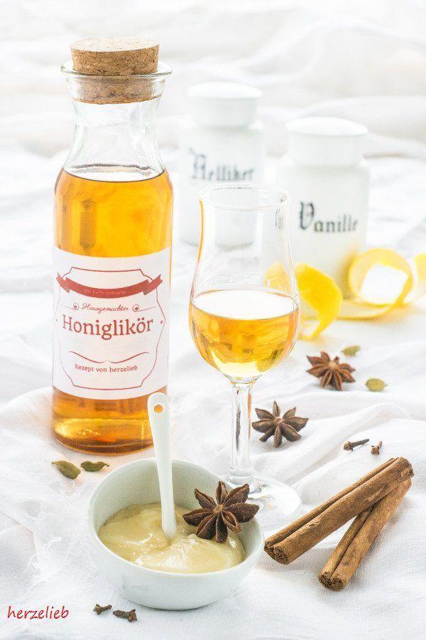 Rezept - Honig Likör oder Bärenfang - mit diesem Rezept gelingt es! Das ideale Geschenk zu Weihnachten, wenn man es rechtzeitig ansetzt.