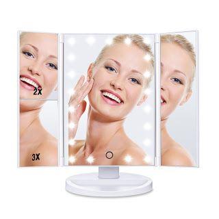Noticias Ofertas y Oportunidades: HAMSWAN Espejo Maquillaje Tríptico con Aumentos 1x...