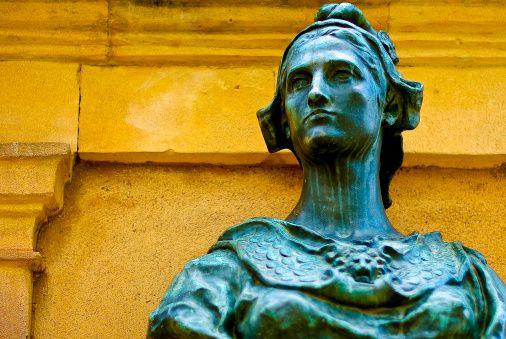 Marianne Bust sculpture, symbol of France.
