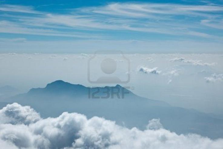 Mountains in clouds, Kodaikanal, Tamil Nadu