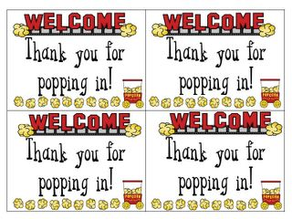 """Meet the Teacher Night...print this (FREE .pdf printable) and send home with parents (attach a bag of microwave popcorn and my """"teacher"""" information card). I'm doing this tonight!! :)"""