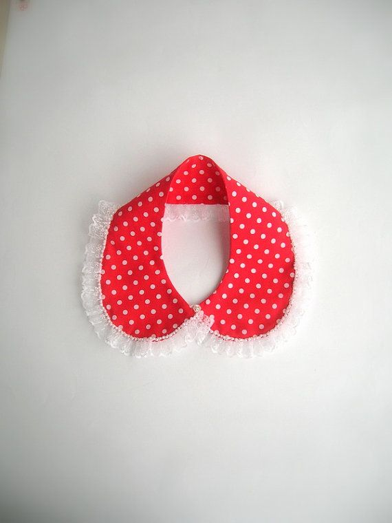 Polka dots lace collar necklace by NurayAytac on Etsy, $25.00